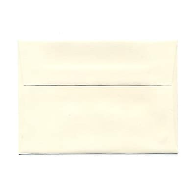 JAM Paper® 4bar A1 Envelopes, 3 5/8 x 5 1/8, Strathmore Natural White Wove, 25/pack (194891)