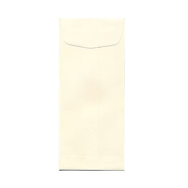 JAM Paper® #10 Policy Envelopes, 4 1/8 x 9.5, Strathmore Natural White Wove, 100/Pack (191249g)