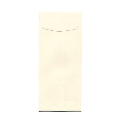 JAM Paper® #10 Policy Envelopes, 4 1/8 x 9 1/2, Strathmore Natural White Wove, 25/pack (191249)