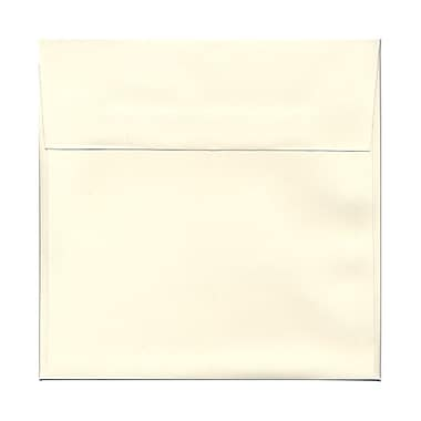 JAM Paper® 8.5 x 8.5 Square Envelopes, Strathmore Natural White Wove, 100/Pack (191283g)
