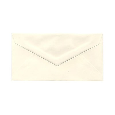 JAM Paper® Monarch Envelopes, 3 7/8 x 7 1/2, Strathmore Natural White Wove, 1000/carton (3197090B)