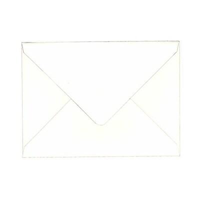 JAM Paper® A7 Invitation Envelopes, 5.25 x 7.25, 80lb Strathmore Bright White Wove with V-Flap, 1000/carton (1921392C)