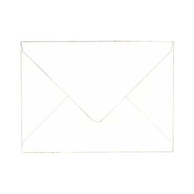 JAM Paper® A7 Invitation Envelopes, 5.25 x 7.25 Strathmore Bright White Laid, 100/Pack (1921397g)