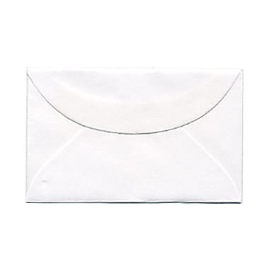 JAM Paper® 3drug Mini Small Envelopes, 2 5/16 x 3.63, White, 1000/Pack (0201214B)