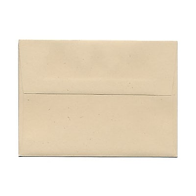 JAM Paper® A6 Invitation Envelopes, 4.75 x 6.5, Husk Brown Recycled, 25/pack (3198)