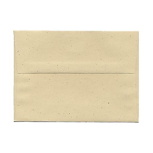 JAM Paper® A7 Recycled Invitation Envelopes, 5.25 x 7.25, Genesis Husk, Bulk 1000/Carton (3206B)