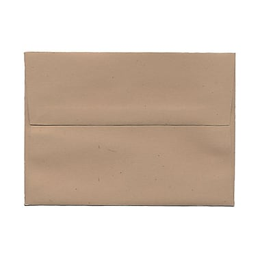 JAM Paper® A7 Invitation Envelopes, 5.25 x 7.25, Fossil Brown Recycled, 100/Pack (22725g)