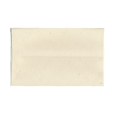 JAM Paper® A10 Invitation Envelopes, 6 x 9.5, Milkweed Ivory Recycled, 1000/carton (03313B)