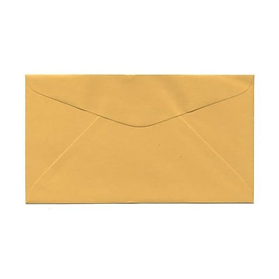 JAM Paper® #6.75 Commercial Envelopes, 3 5/8 x 6 1/2, Goldenrod, 1000/carton (557612642)
