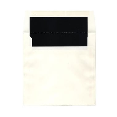 JAM Paper® 7.25 x 7.25 Glossy Lined Square Envelopes, White with Black Lining, 1000/Pack (5123111421B)