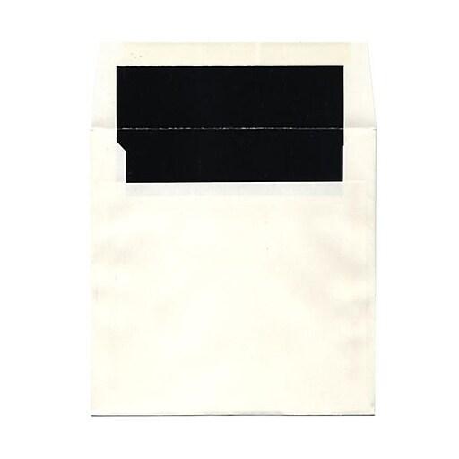 JAM Paper® 7.25 x 7.25 Square Foil Lined Invitation Envelopes, Natural White with Black Foil, Bulk 1000/Carton (5123111421B)