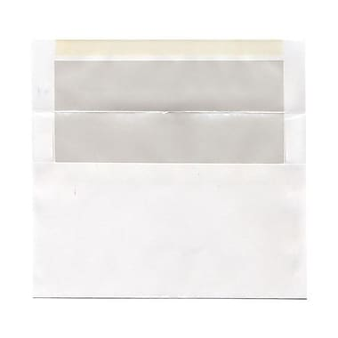 JAM Paper® A9 Foil Lined Envelopes, 5.75 x 8.75, White with Ivory Lining, 100/Pack (532412546g)
