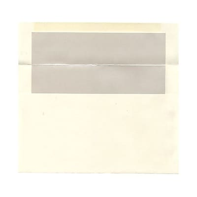 JAM Paper® A9 Foil Lined Envelopes, 5.75 x 8.75, Ivory with Ivory Lining, 25/pack (532412544)
