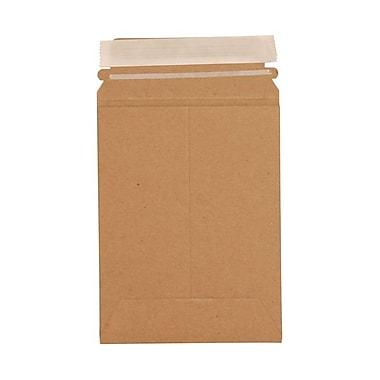JAM PaperMD – Enveloppes pour photos en papier kraft recyclé avec fermeture autocollante, 6 x 8 po, brun