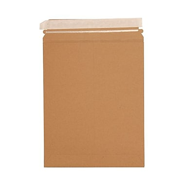 JAM Paper® Photo Mailer Stiff Envelopes, Self Adhesive Closure, 9.75 x 12.25, Brown Kraft Recycled, 20/Pack (8866642g)