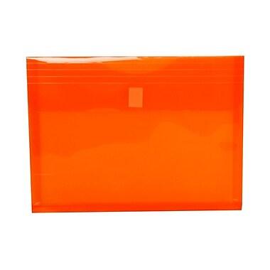 JAM PaperMD – Enveloppes en plastique avec fermeture autoagrippante, exp. de 1 po, 9 3/4 x 13 po, orange, 12/pqt