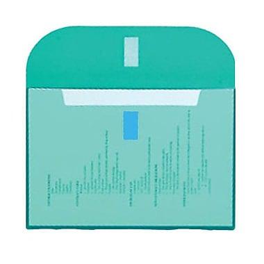 JAM Paper® Plastic Envelopes, VELCRO® Brand Closure, 1 Expansion, Letter Booklet, 8.6 x 11.5, Teal Blue Poly, 12/pk (218VC1TE)