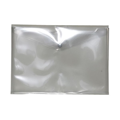 JAM Paper® Plastic Envelopes with Snap Closure, Letter Booklet, 9.75 x 13, Smoke Grey Poly, 12/pack (218S0SM)