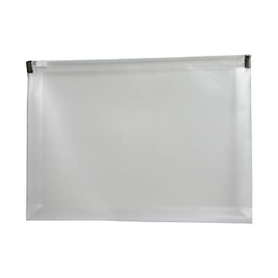JAM Paper® Plastic Envelopes with Zip Closure, Booklet, 4.5 x 6.5, Clear Poly, 12/pack (473Z1CL)