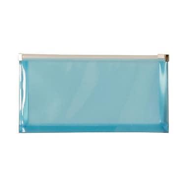 JAM Paper® #10 Booklet Plastic Envelopes with Zip Closure, 4-3/4
