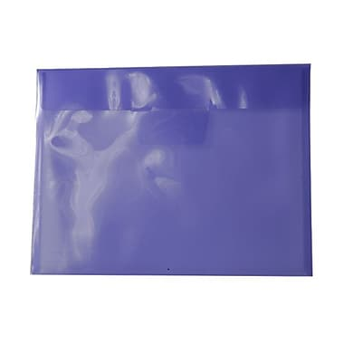 JAM Paper® Plastic Envelopes with Tuck Flap Closure, Letter Booklet, 8 7/8 x 12, Lilac Purple Poly, 12/Pack (1541738)