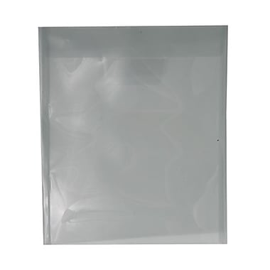 JAM Paper® Plastic Envelopes with Tuck Flap Closure, Letter Open End, 9.88 x 11.75, Smoke Grey Poly, 12/Pack (1541730)