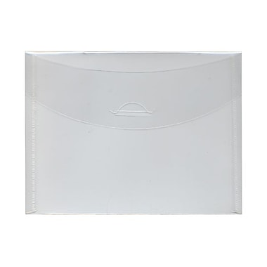JAM Paper® Plastic Envelopes with Tuck Flap Closure, Booklet, 5.5 x 7.38, Clear Poly, 24/Pack (1541743g)