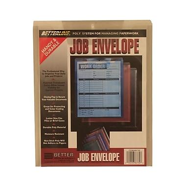 JAM PaperMD – Enveloppes de travail à ouverture au sommet et rabat à insertion, 9 1/2 x 11 1/2 po, gris fumée, 12/paq.