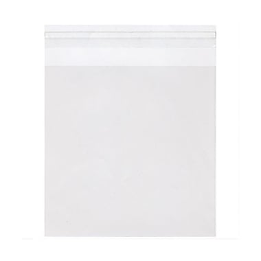 JAM Paper® Cello Sleeves with Self Adhesive Closure, 6.25 x 6.25, Clear, 100/pack (6.25X6.25CELLO)