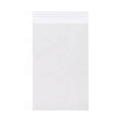 JAM Paper® Cello Sleeves with Self-Adhesive Closure, 8.9375 x 11.25, Clear, 100/Pack (PAPERSIZECELLO)