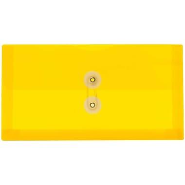 JAM PaperMD – Enveloppes format affaires n° 10 avec fermeture à bouton en plastique et ficelle, 5 1/4 x 10 po, jaune, 24/paquet
