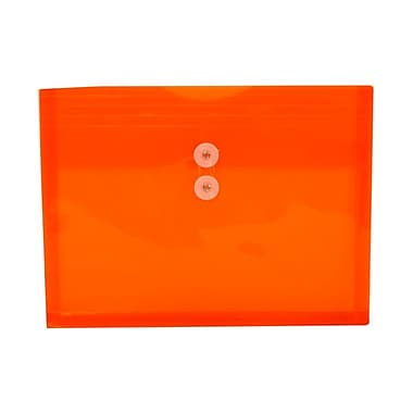 JAM Paper® Letter Booklet Plastic Envelopes, 9-3/4