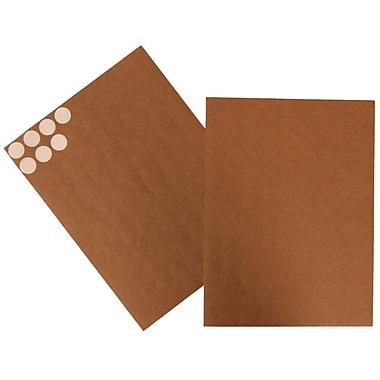 JAM Paper® Round Circle Label Sticker Seals, 3/4, Brown Kraft, 108/pack (3147612188)