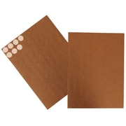 JAM Paper® Round Circle Label Sticker Seals, 3/4, Brown Kraft, 108/pack (3147612188)