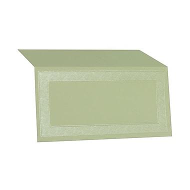 JAM Paper MD – 80 lb Cartons de table à bordure nacrée, 2 x 4 1/2 po, ivoire, paq/50