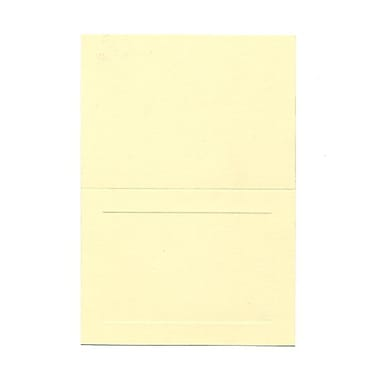JAM Paper® Blank Foldover Cards, 4bar / A1 size, 3 1/2 x 4 7/8, Ivory Panel, 100/pack (309898)