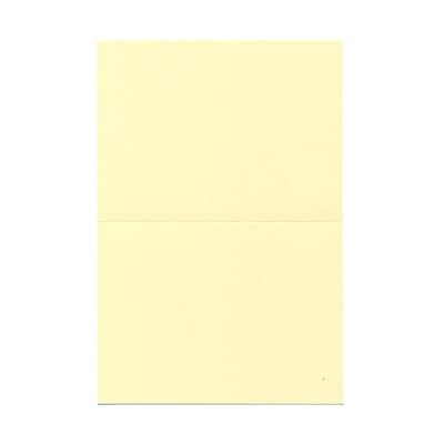 JAM Paper® Blank Foldover Cards, A6 size, 4 5/8 x 6 1/4, Ivory, 25/pack (309920C)