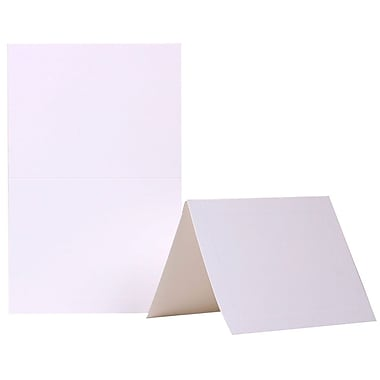 Jam Paper® Smooth Panel Blank Foldover Cards, 4 3/8