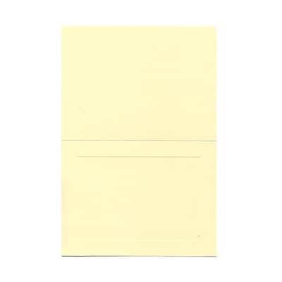 JAM Paper® Blank Foldover Cards, A6 size, 4 5/8 x 6 1/4, Ivory Panel, 500/box (0309932B)