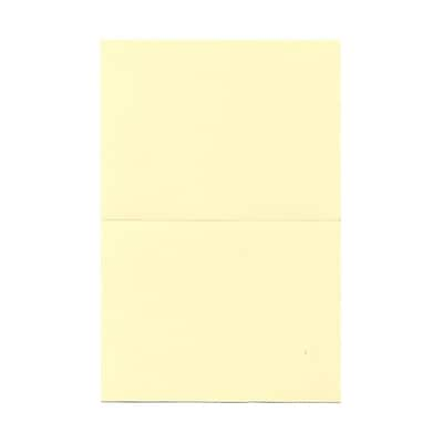 JAM Paper® Blank Foldover Cards, A7 size, 5 x 6 5/8, 80lb Strathmore Ivory Wove, 25/pack (37806092)