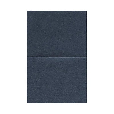 JAM Paper® Blank Foldover Cards, A2 size, 4.25 x 5.5, Stardream Metallic Anthracite Black, 50/pack (6935212)
