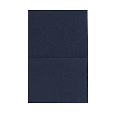 JAM Paper® Blank Foldover Cards, A2 size, 4.25 x 5.5, Stardream Metallic Lapiz Lazuli Purple, 50/pack (269313358)