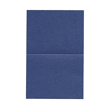 JAM Paper® Blank Foldover Cards, A2 size, 4.25 x 5.5, Stardream Metallic Sapphire Blue, 50/Pack (6935526)
