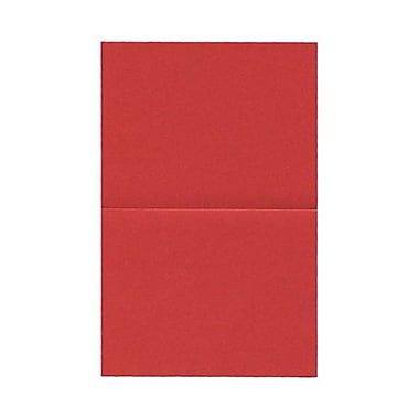 JAM Paper® Blank Foldover Cards, A2 size, 4.25 x 5.5, Crushed Leaf Poppy Gold, 50/Pack (HOCT900)
