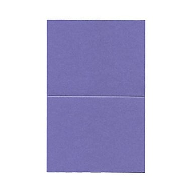 JAM Paper® Blank Foldover Cards, A2 size, 4.25 x 5.5, Curious Metallic Purple Haze, 50/pack (6937061)