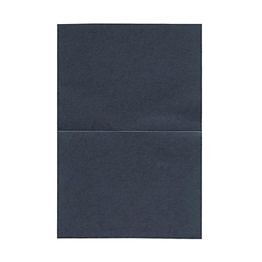 JAM Paper® Blank Foldover Cards, A6 size, 4 5/8 x 6 1/4, Stardream Metallic Anthracite Black, 50/pack (6935217)
