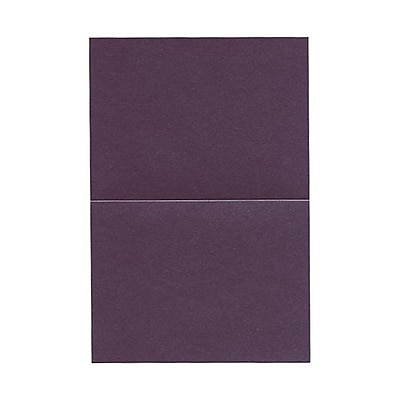 JAM Paper® Blank Foldover Cards, A6 size, 4 5/8 x 6 1/4, Stardream Metallic Ruby Purple, 50/pack (6935529)