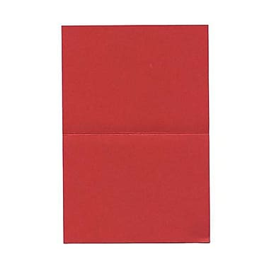 JAM Paper® Blank Foldover Cards, A6 size, 4 5/8 x 6 1/4, Crushed Leaf Red Poppy, 50/pack (HOCT910)