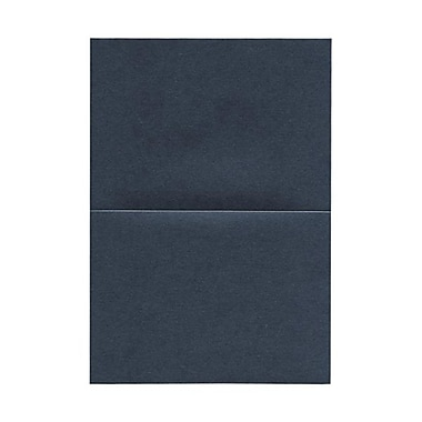 JAM Paper® Blank Foldover Cards, A7 size, 5 x 7, 80lb Stardream Metallic Anthracite Black, 50/pack (6935219)