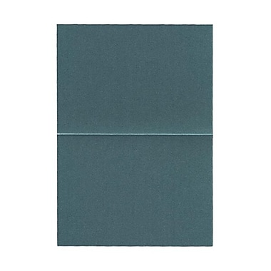 JAM Paper® Blank Foldover Cards, A7 size, 5 x 7, 80lb Stardream Metallic Emerald Green, 50/Pack (6935533)